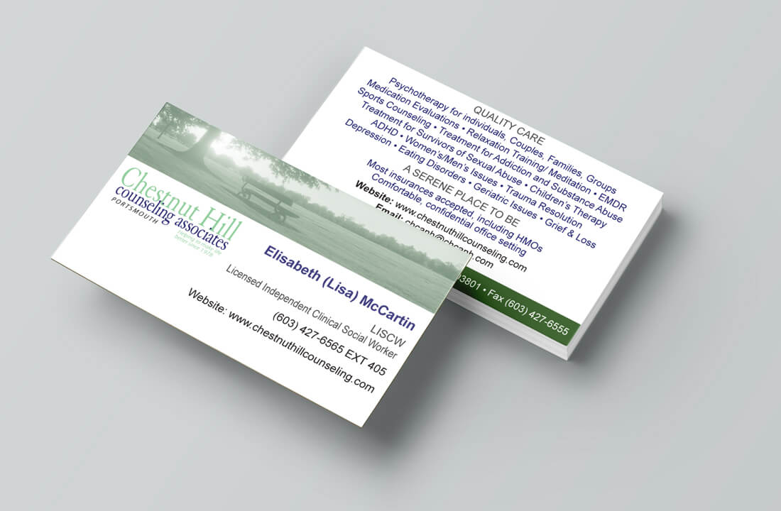 Chestnut Hill Counseling Associates Business Card