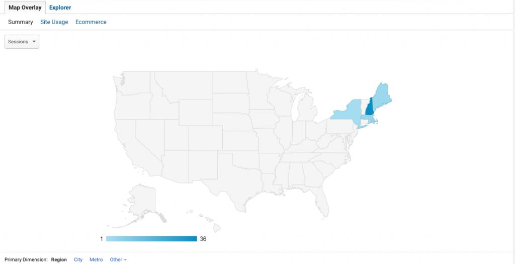 Google Analytics - Location & Demographics Report
