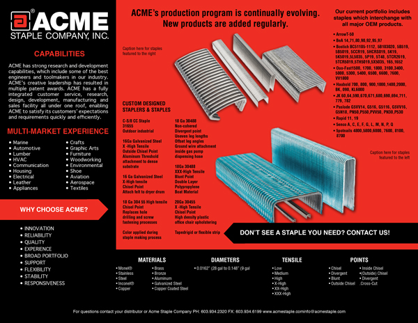 acme staple trifold - why good design is essential to your business