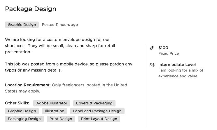 Upwork Job Detail - Crowdsource Design Pitfalls Upwork and Fiverr