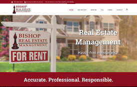 Bishop Real Estate Management - Web Design Portfolio