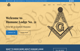 Humane Lodge No. 21 - Web Design Portfolio