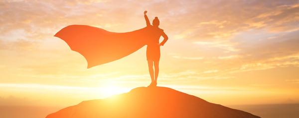 Super Hero on Mountain - Domain Authority - Relevant Content