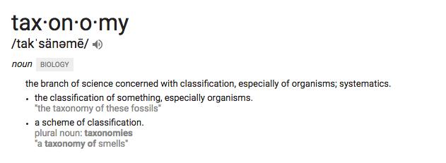 Taxonomy Definition