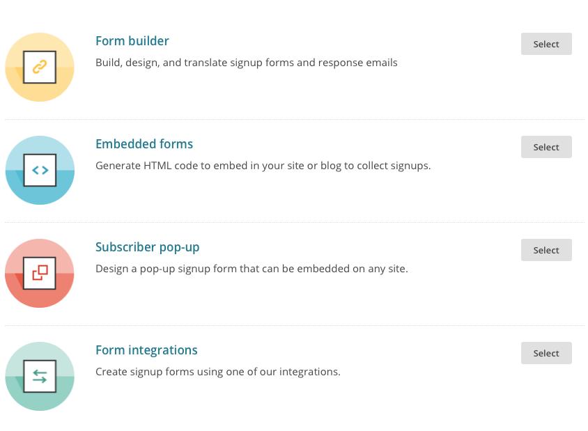 MailChimp Automation - Signup Form Options