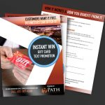 Path Resorts Instant Win Pocket Folder Inserts