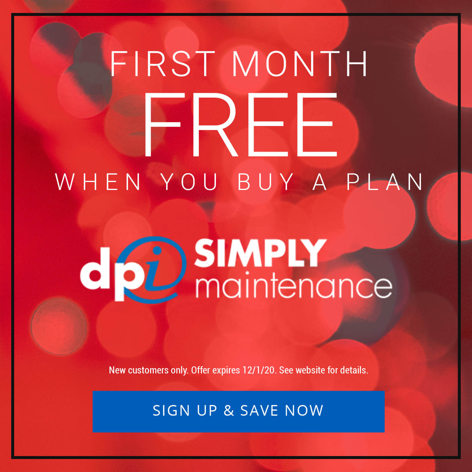 DPi Simply Maintenance Cyber Monday Deal