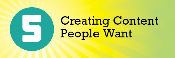 Creating Content People Want header