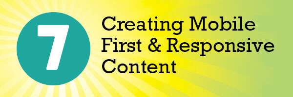 Creating Mobile First & Responsive Content header