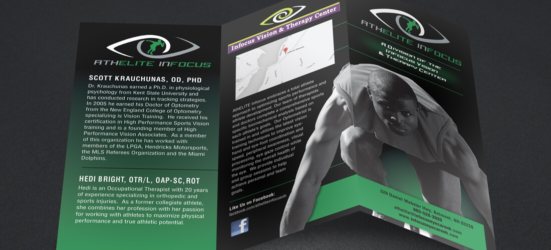 Infocus Vision  Sports Therapy Brochure  Welcome To Dpi Graphics